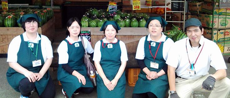 新鮮野菜コーナー